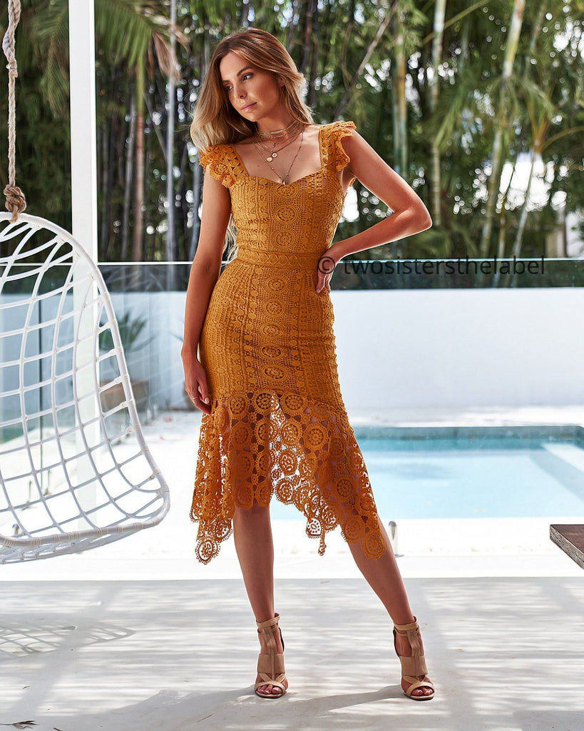 1bf3329a8ce324 Giselle Dress- Mustard – Twosister s The Label