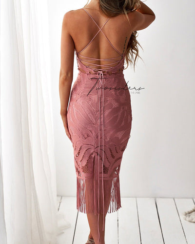 Khaleesi Dress - Dusty Pink