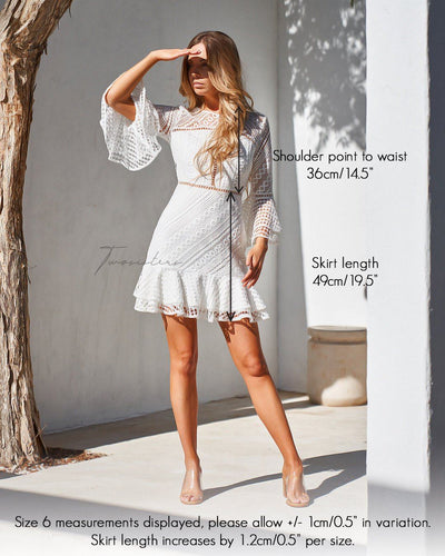 Stacey Dress - White