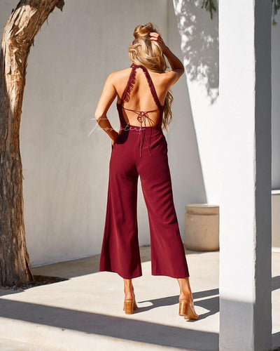 Bree Jumpsuit- Red