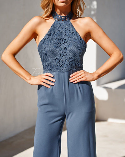 Bree Jumpsuit- Steel Blue
