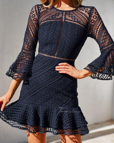 Stacey Dress - Navy