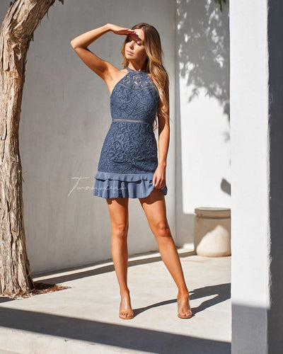 Mika Dress - Steel Blue