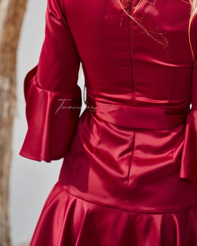 Constance Dress - Red