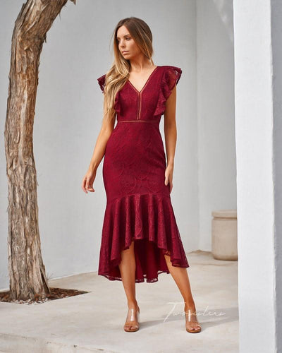 Chantelle Dress- Red