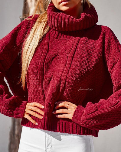 Twosisters The Label Aspen Knit Deep Red