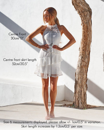 Carina Dress - White