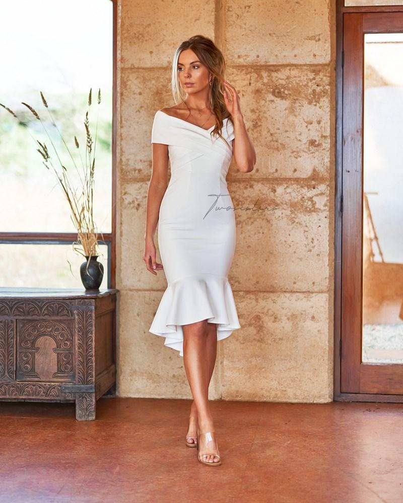 Twosisters The Label Brienne Dress White