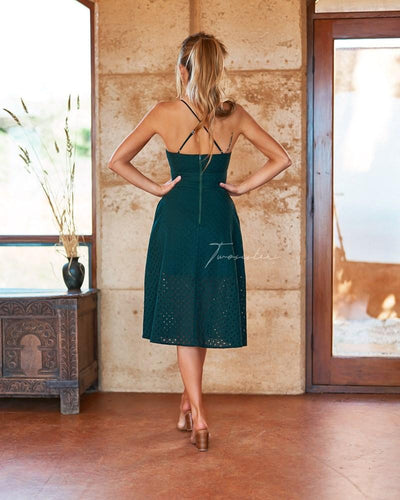 Charlotte Dress - Emerald Green