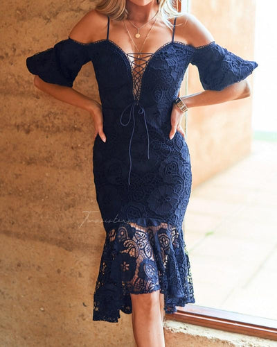 Riana Dress - Navy