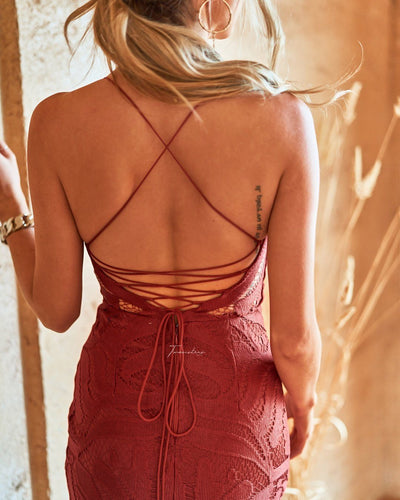 Khaleesi Dress - Burnt Orange
