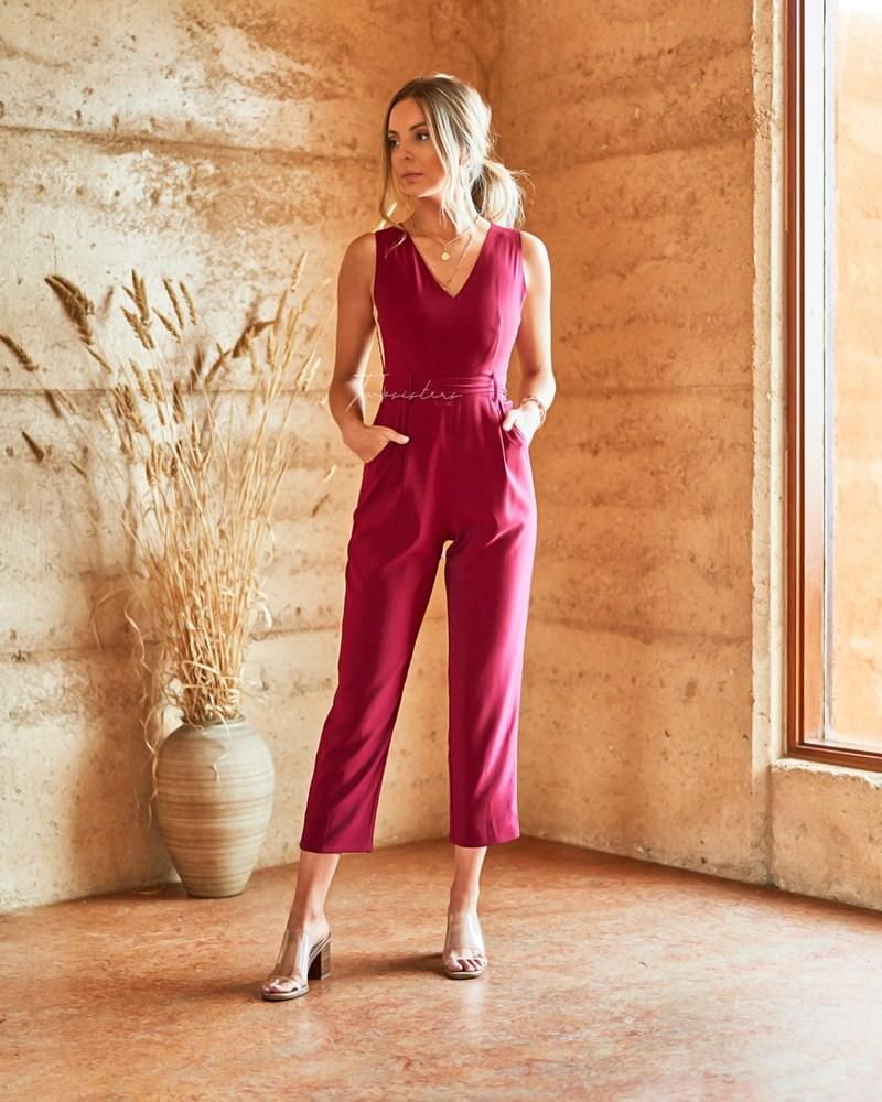Amanda Jumpsuit - Red
