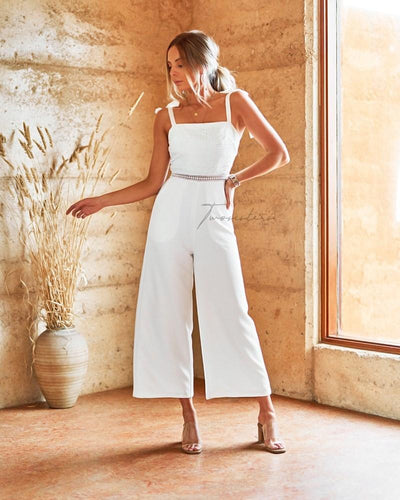Beryl Jumpsuit - White