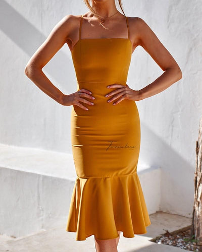 Eveleen Dress - Yellow