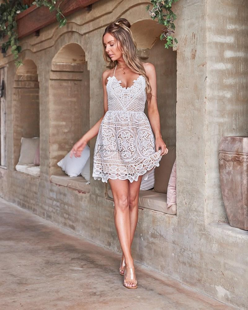 Mendoza Dress - White