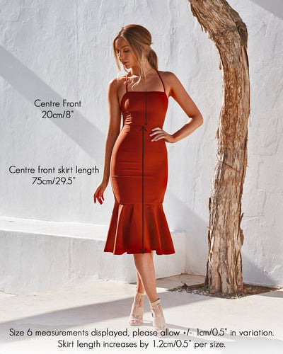 Eveleen Dress - Burnt Orange
