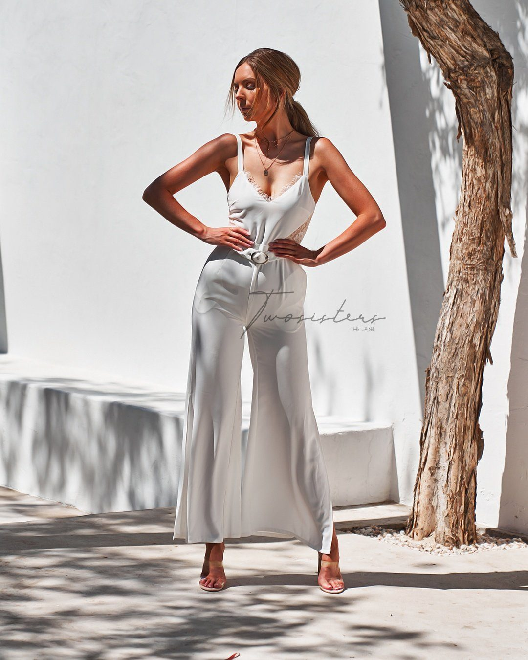 Raven Jumpsuit - White
