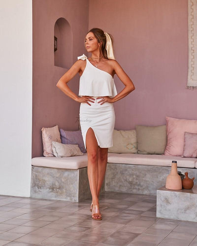 Twosisters The Label Edith Dress White