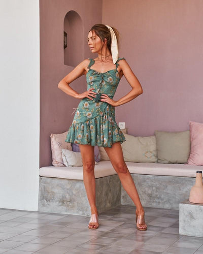 Twosisters The Label Demi Dress Green Floral