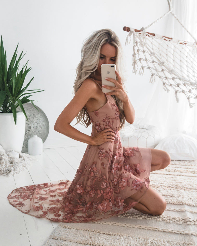 3ed8d548759f Saskia High Low Dress - Embroidery Rose (PRE-ORDER) – Twosister's ...