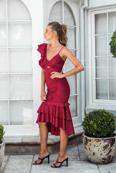 Sophia Dress - Red
