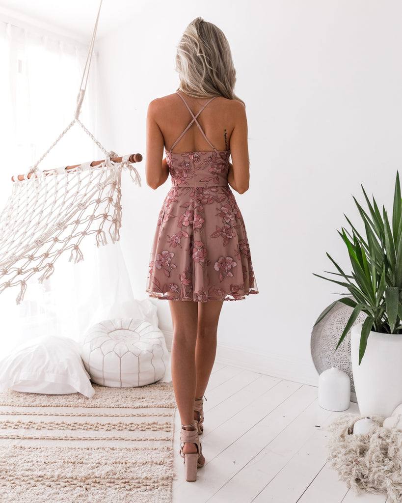 Sassy Dress - Embroidery Rose (PRE ORDER)