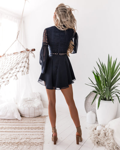 Alyse Dress - Navy