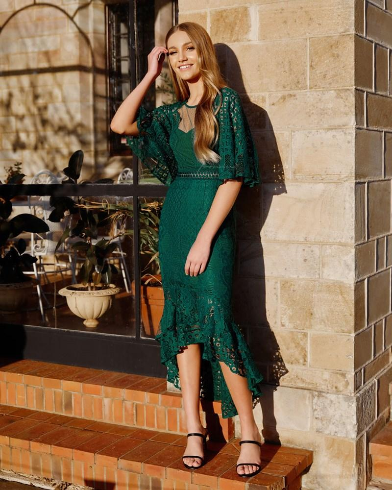 Twosisters The Label Reyna Dress Green