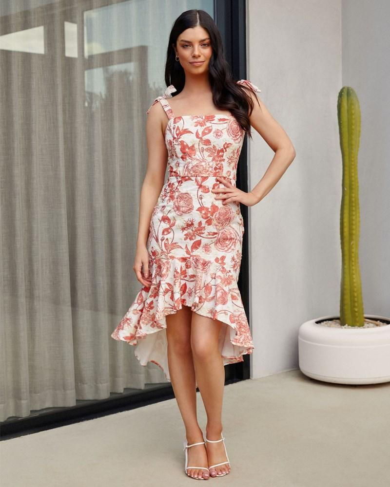 Twosisters The Label Priscilia Dress Sunset Floral