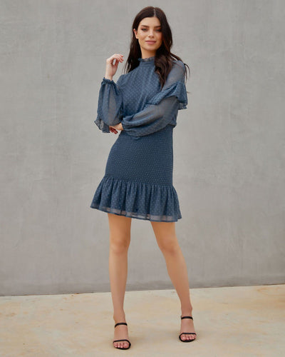 Twosisters The Label Kealy Dress Steel Blue