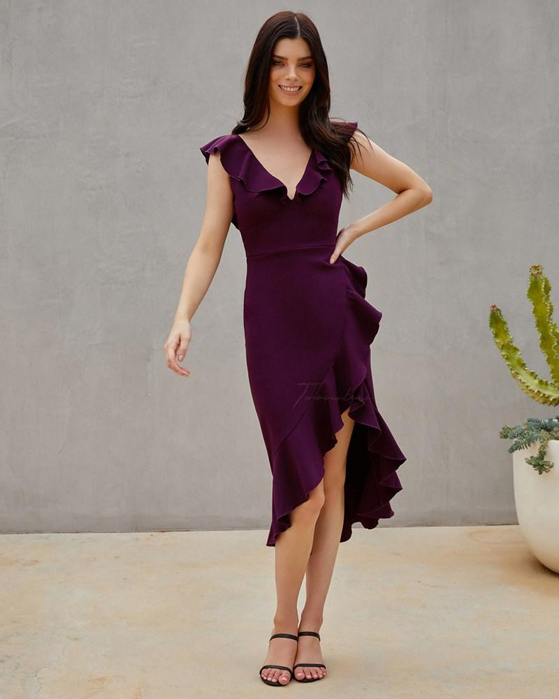 Twosisters The Label Katie Dress Dark Purple