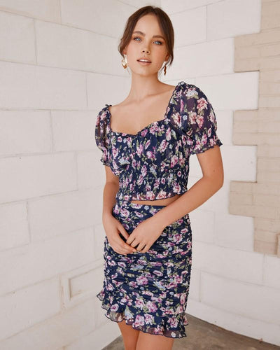 Twosisters The Label Lottie Set Navy Floral