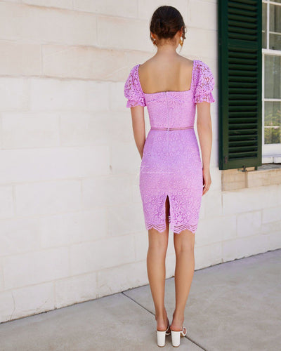 Twosisters The Label Ellington Lace Dress Lilac
