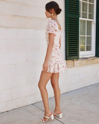 Twosisters The Label Luka Mini Dress Pink Floral