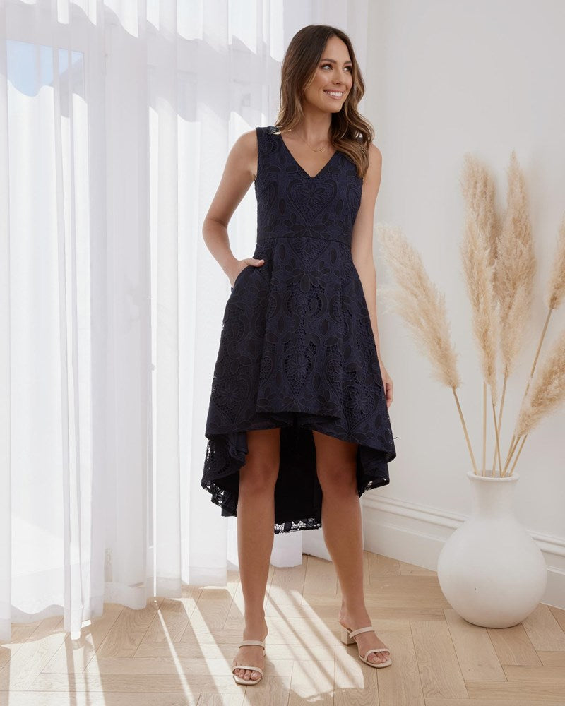 Twosisters The Label Arlo Dress Navy