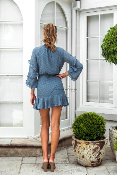 Piper Dress - Steel Blue