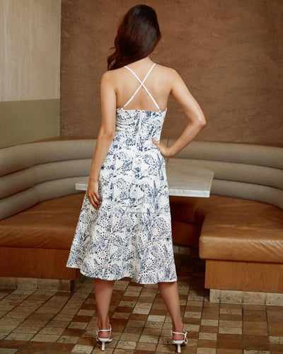 Twosisters The Label Charlotte Dress Porcelain Print