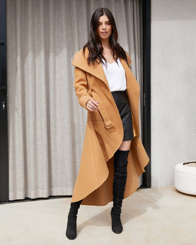 Twosisters The Label Meryl High Low Coat Camel
