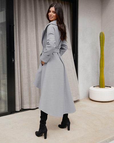 Twosisters The Label Meryl High Low Coat Grey