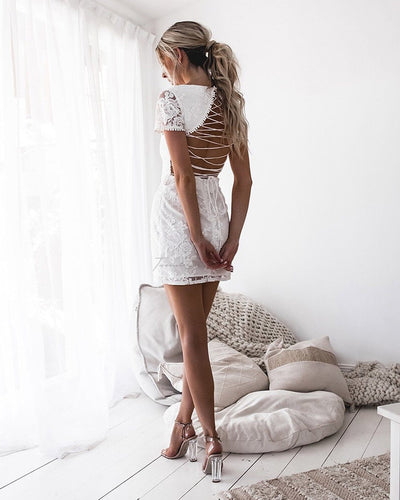 Twosisters The Label Shay Lace Dress White