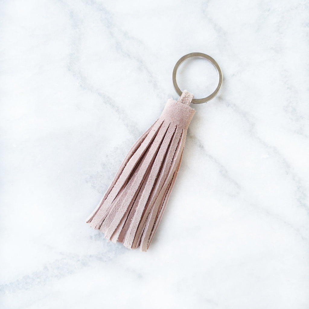 Personalised Leather Tassel Keyring