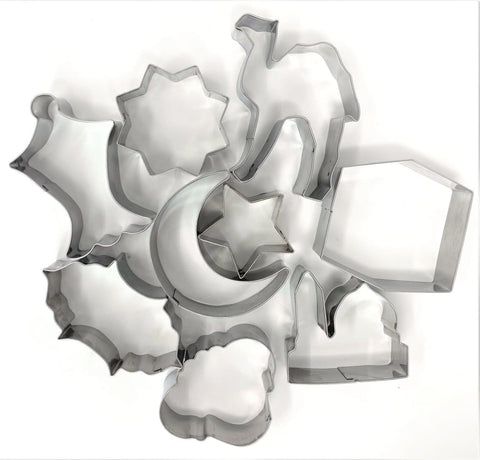 9 Piece Islamic Cookie Cutters - Bakeware - Eidway