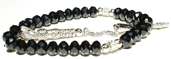 Acrylic Crystal Tesbih - Black - Prayer Beads - Siraj