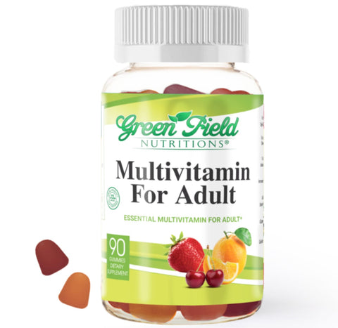 Adult Essential Multivitamin Gummies - Halal Vitamins - Greenfield Nutritions
