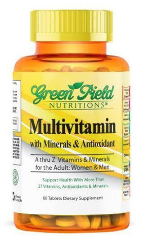 Adult Multivitamin with Minerals and Antioxidants - Halal Vitamins - Greenfield Nutritions