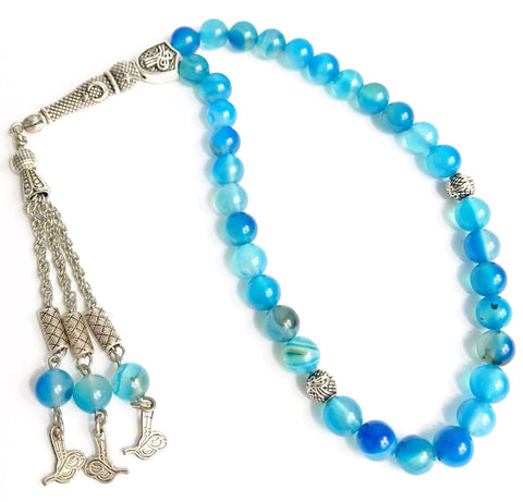 Aquamarine Tesbih - Prayer Beads - Siraj