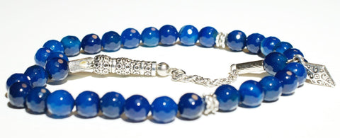 Blue Agate Tesbih - Prayer Beads - Siraj
