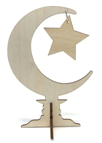 Crescent Moon Star Craft Stand - Crafts - Eidway
