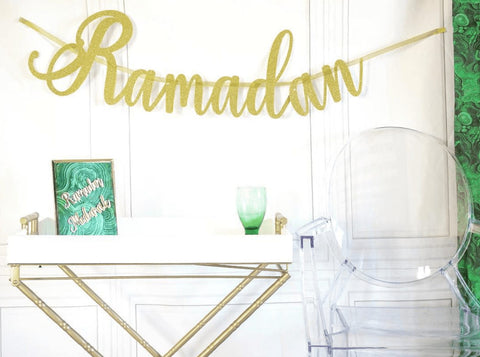 Cursive Ramadan Banner - Decorations - Eid Creations