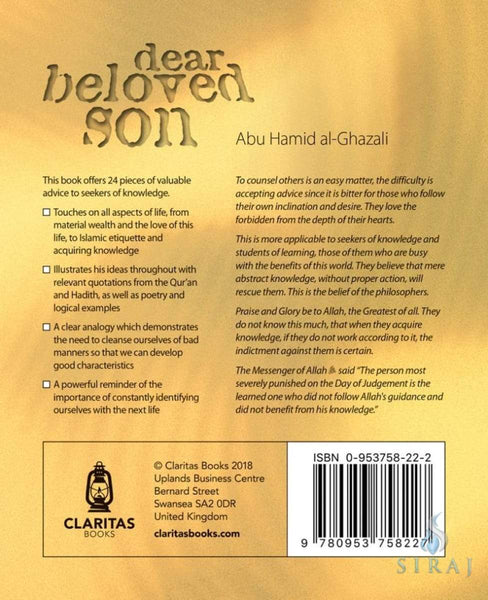 Dear Beloved Son: 24 Pieces of Valuable Advice for Seekers of Knowledge - Islamic Books - Awakening Publications